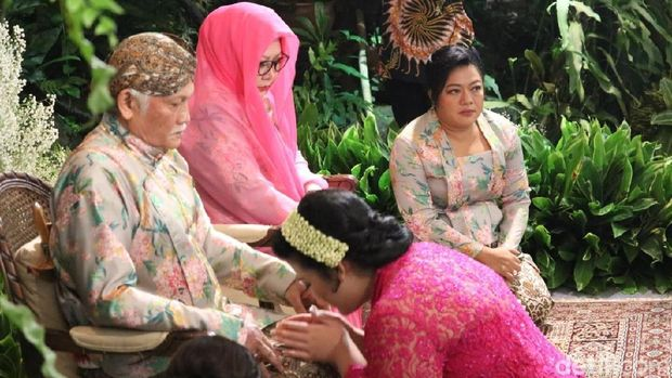 Mufidah Kalla Hadiri Siraman Putri Tutut Soeharto.