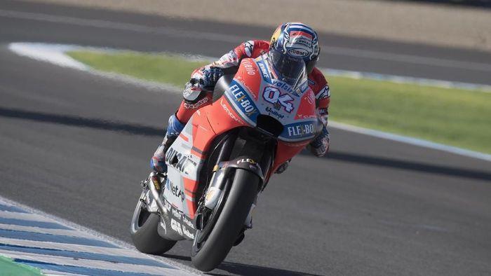Dovizioso akan start dari posisi delapan di MotoGP Spanyol. (Foto: Mirco Lazzari gp/Getty Images)