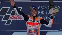 Marquez Rayakan Kemenangan di Jerez Bersama Ibunya