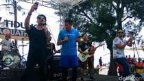 Usai Aquathlon, Sandiaga Nyanyi Lagu Red Red Wine