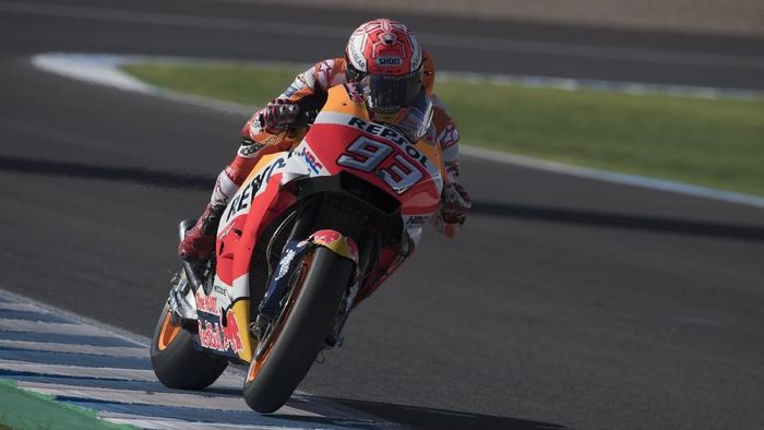 Marc Marquez memenangi balapan MotoGP Spanyol di Sirkuit Jerez (Foto: Mirco Lazzari gp/Getty Images)