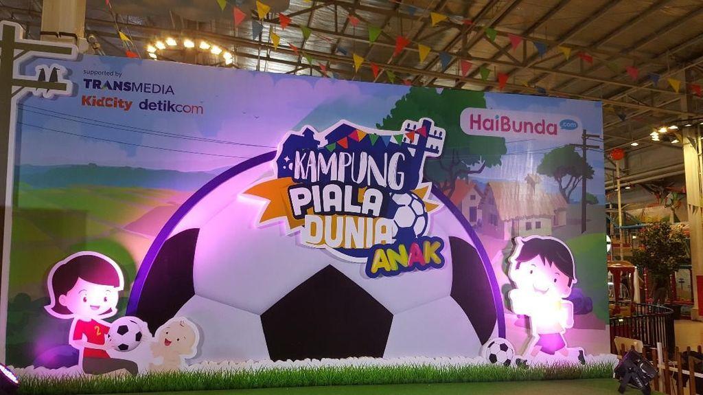 Seru! Saat Anak-anak Berlomba di Kampung Piala Dunia Anak