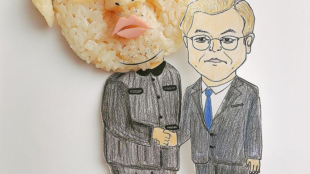 Seniman Jepang Ini Bikin Rice Ball Bentuk Ed Sheeran sampai Kim Jong-un