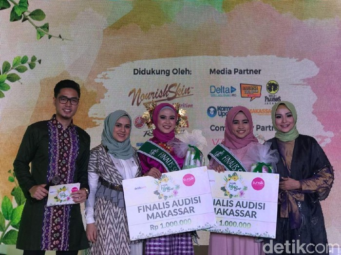 Finalis Sunsilk Hijab Hunt 2018 asal Makassar. Foto: Kiki Oktaviani/Wolipop