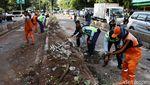 Bus TransJ Dievakuasi Usai Seruduk Pembatas Jalan di Simprug