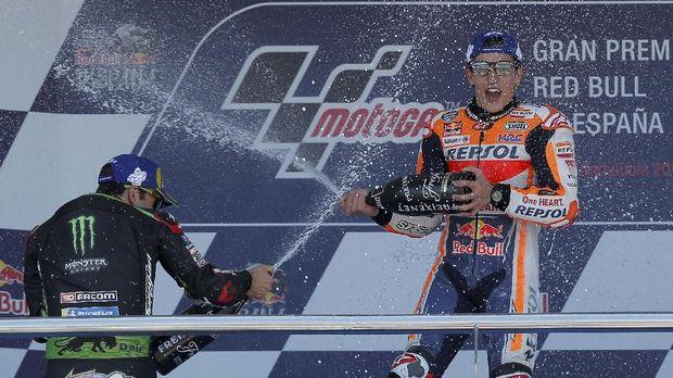 Marquez sempat terjatuh di kualifikasi MotoGP Amerika Serikat, tetapi akhirnya menjadi pemenang dalam balapan.