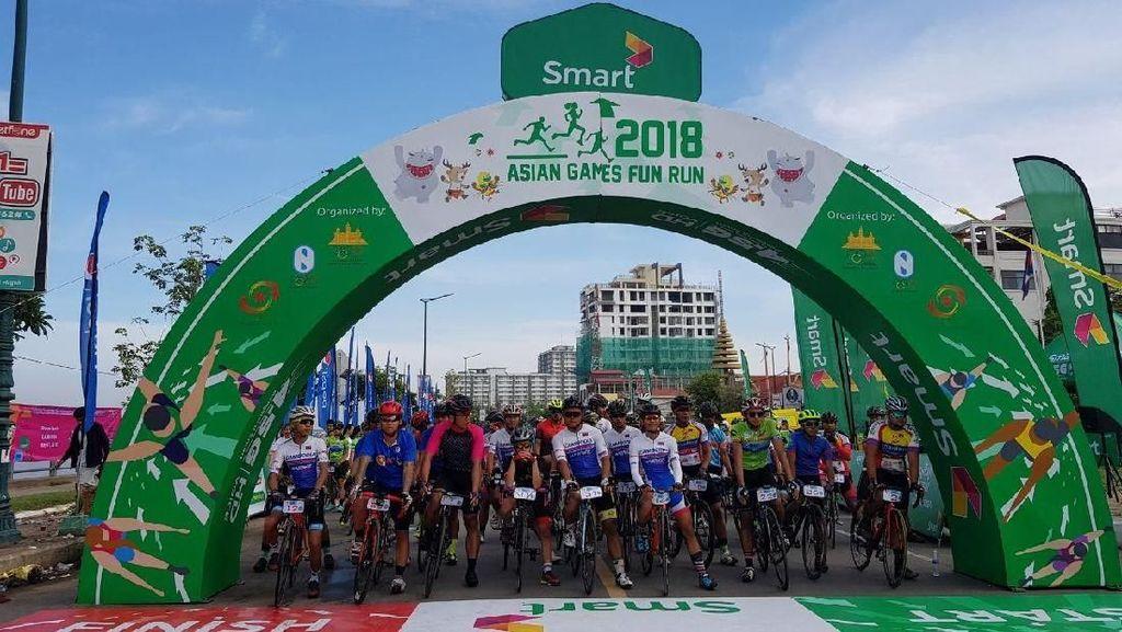 Gaungkan Asian Games 2018, Kamboja Gelar Fun Run dan Bike Race