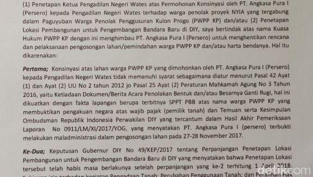 Warga Penolak Bandara Kulon Progo Surati PT AP I