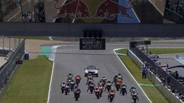 MotoGP Spanyol dilangusngkan di Sirkuit Jerez pada akhir pekan ini. (REUTERS/Jon Nazca)