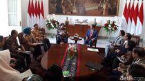 Jokowi Terima Kunjungan Pimpinan DPD di Istana