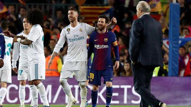 Lionel Messi berpeluang absen pada laga El Clasico kali ini.