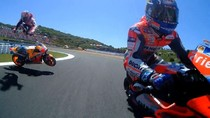 Detik-detik Kecelakaan Segitiga Dovizioso-Lorenzo-Pedrosa