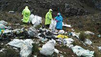 Foto: Sampah di Puncak Tertinggi Indonesia