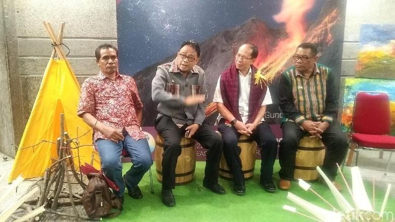Foto: Suasana press conference Festival 3 Gunung Lembata di Kemenpar (Randy/detikTravel)
