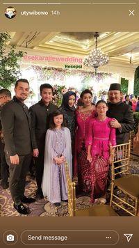 Foto bersama keluarga Annisa Trihapsari dan Ari Sigit.