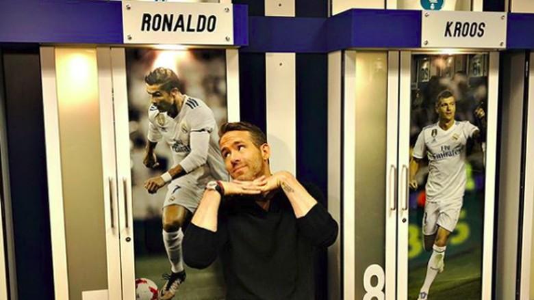 Ryan Reynolds di Stadion Real Madrid (vancityreynolds/Instagram)