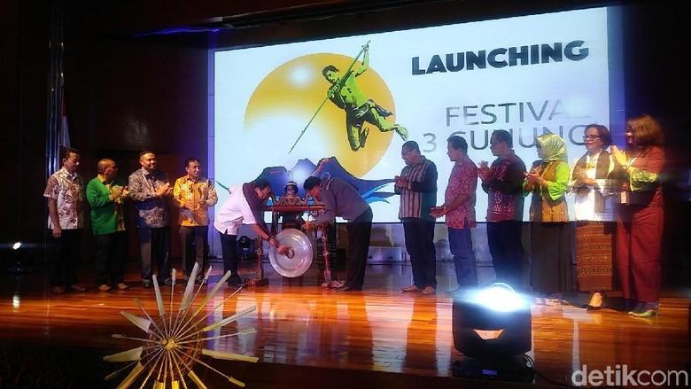 Foto: Suasana launching Festival 3 Gunung Lembata di Kemenpar (Randy/detikTravel)