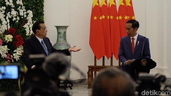 Foto: Presiden Jokowi bertemu denga PM China Li Keqiang. (Andhika-detikcom)