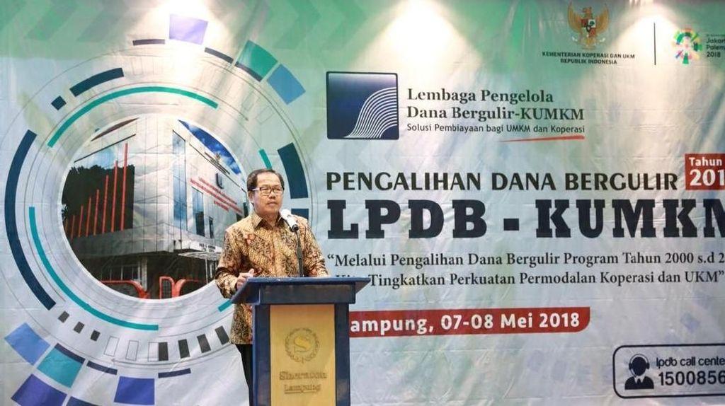 LPDB: Lampung Tertinggi Tingkat Pengembalian Dana Bergulir