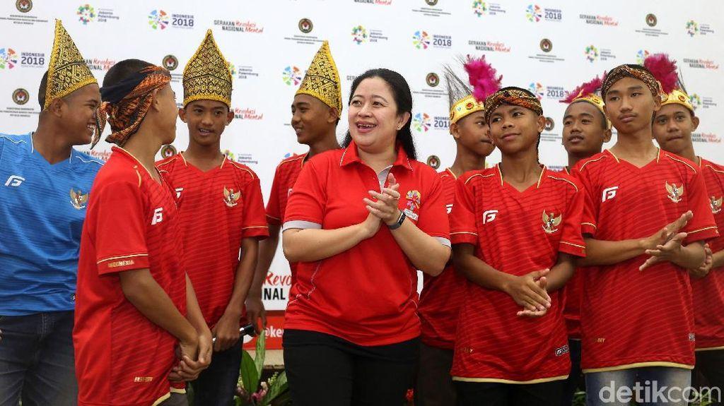 Puan Lepas Kontingen Piala Dunia Anak Jalanan ke Moskow