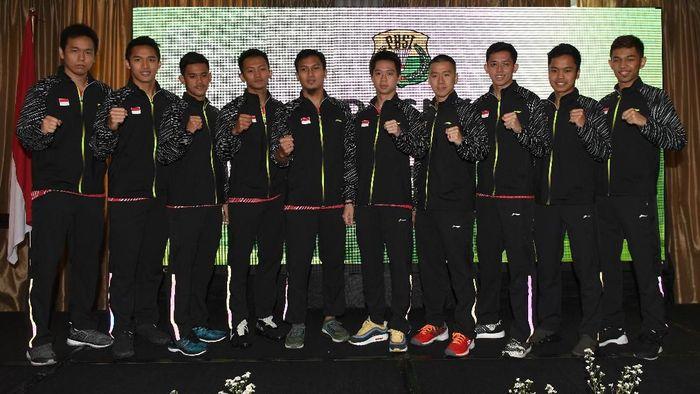 Para pemain dalam Tim Thomas Indonesia di gelaran Piala Thomas-Uber 2018 (Foto: Puspa Perwitasari/Antara Foto)