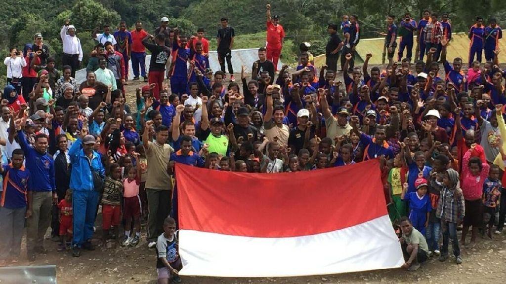 Semangat Asian Games 2018 Sampai ke Kampung Atas Awan di Papua