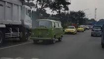 Video Viral Konvoi VW Lawan Arah di Tol Jagorawi