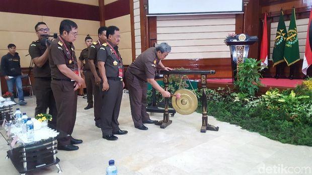 Rakernis bidang pidana khusus Kejaksaan Agung, Selasa (8/5/2018)