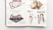 Keren! Wanita Ini Tulis Ulasan Makanan dengan Gambar di Buku Hariannya
