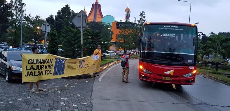 Left Lane Campaign, Kampanye Penggunaan Lajur Kiri Jalan Tol. Foto: Dok. ALTIC