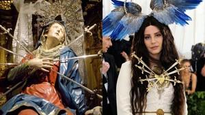 10 Gaya Seleb di Met Gala yang Jadi Kontroversi karena Tiru Ikon Religi