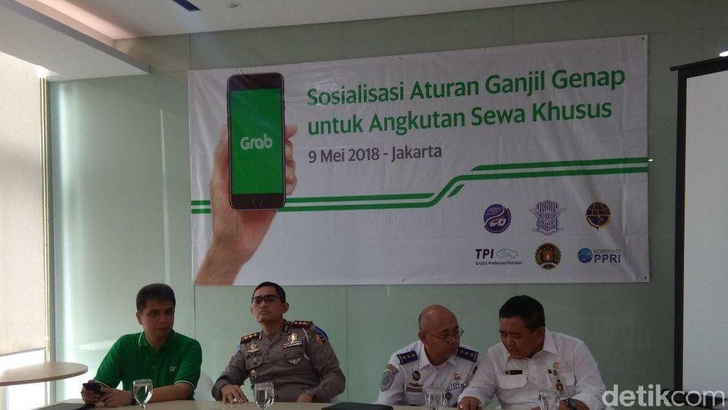 BPTJ-Polri Sosialisasi Ganjil Genap ke Sopir Taksi Online