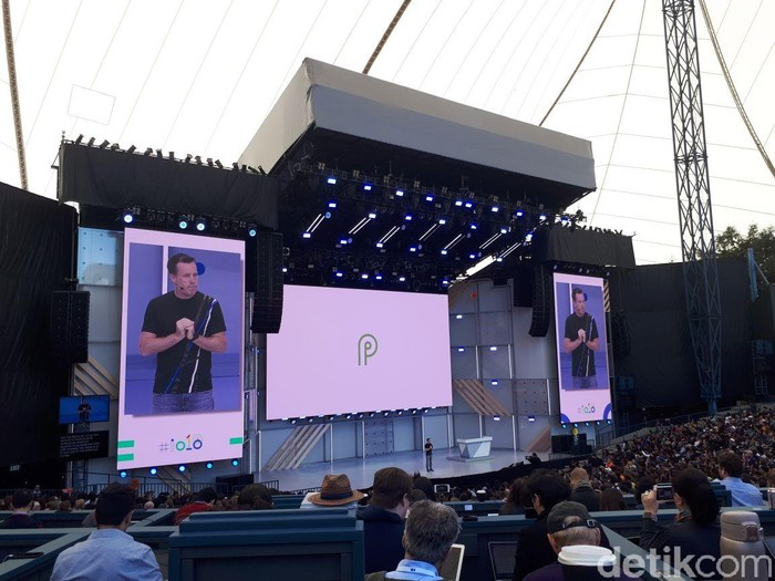 Pengenalan Android P di Google I/O. Foto: detikINET/Fino Yurio Kristo