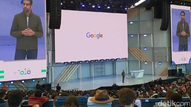 Gelaran Google I/0 2018.