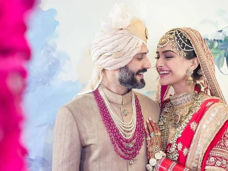 Foto: Sonam Kapoor dan Anand Ahuja (dok. Instagram)