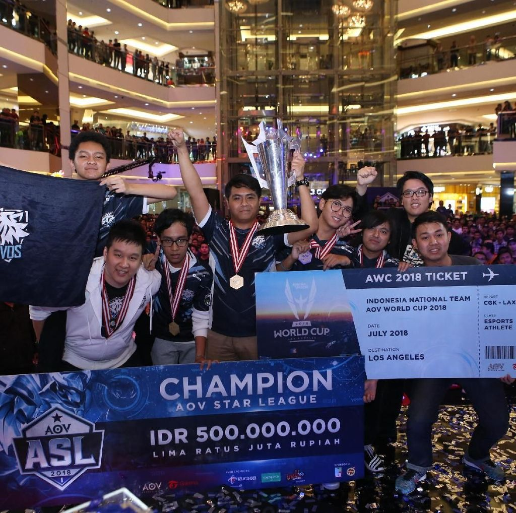 Evos.AoV Siap Wakili Indonesia di Kejuaraan AoV Dunia