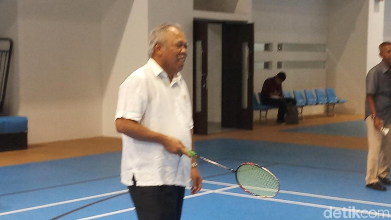 Jajal Training Facility GBK, Menteri PUPR Main Badminton