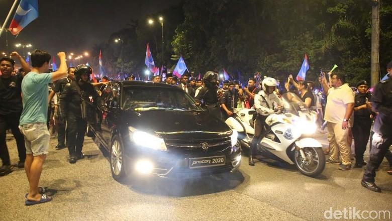 Mahathir Mohamad usai dilantik sebagai Perdana Menteri Malaysia. Foto: Haris Fadhil/detikcom