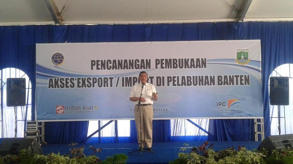 Luhut Mulai Pencanangan Pelabuhan Ekspor-Impor di Banten