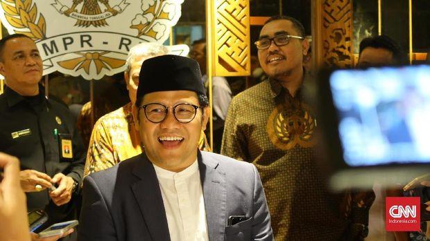 Ketua Umum PKB Muhaimin Iskandar, di Jakarta, Jumat (11/5).