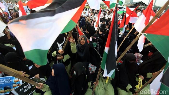 Aksi 115 Bela Palestina (Rengga Sancaya/detikcom)