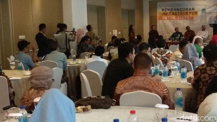 Pemerintah pengusaha diskusi infrastruktur/Foto: Trio Hamdani/detikFinance