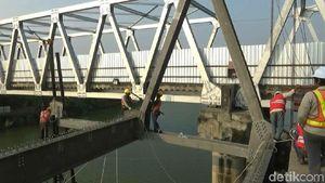 Jembatan Babat yang Ambrol Diperbaiki, 4 Juni Bisa Dilewati