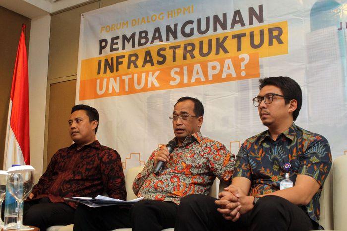 Menhub Budi Karya Sumadi menjadi salah satu pembicara dalam forum tersebut. Foto: dok. HIPMI