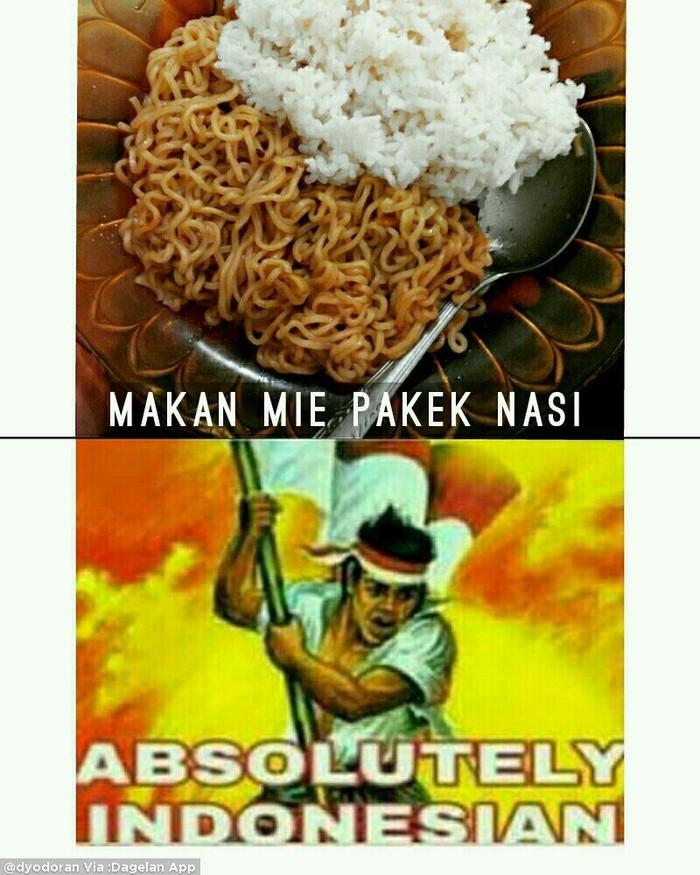 Setuju nggak nih? Orang Indonesia kalau makan mie goreng pakai nasi. Karbohidrat + karbohidrat = gagal diet. Foto: Istimewa