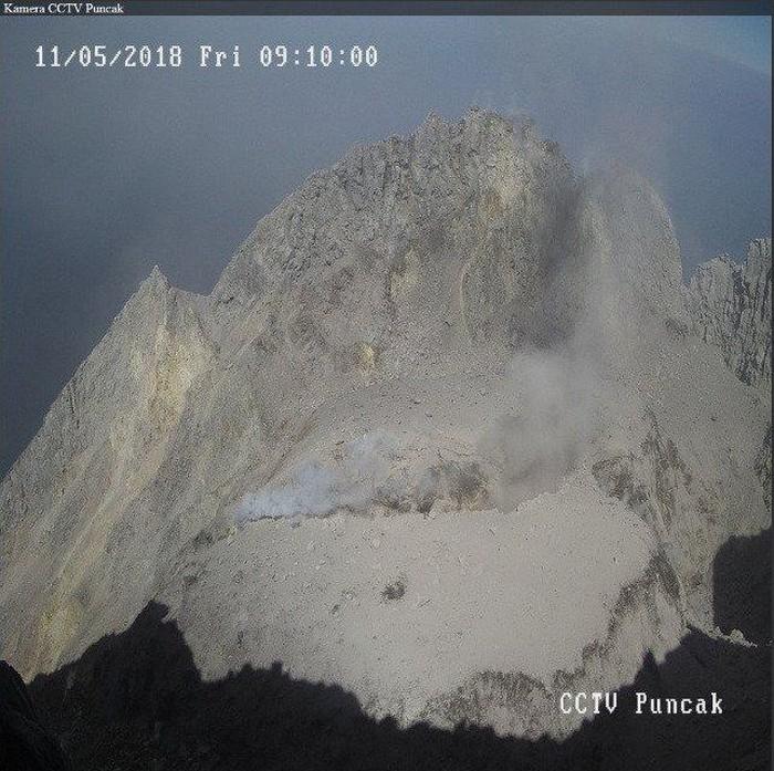 Kawah Merapi pasca meletus, Foto: Balai Penyelidikan dan Pengembangan Teknologi Kebencanaan Geologi (BPPTKG)