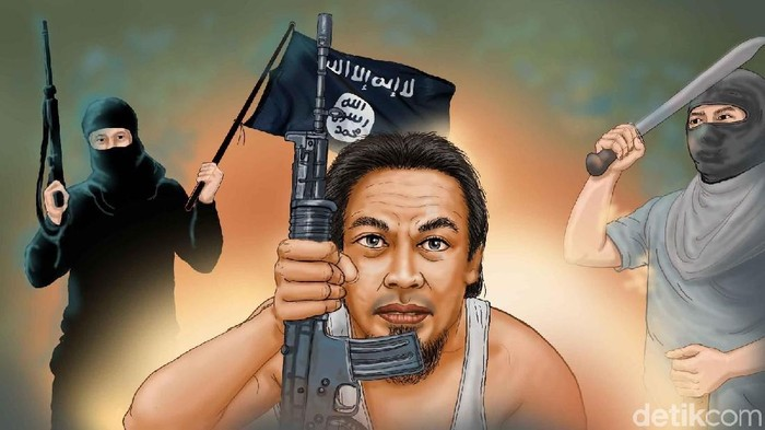 Ilustrasi perebutan rutan di Mako Brimob oleh teroris.