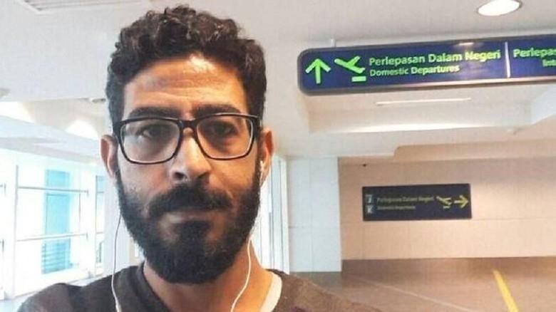 Foto: Hassan Al Kontar, traveler Suriah yang terjebak di Malaysia (@Kontar81/Twitter)