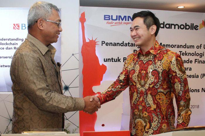 PT Bank Negara Indonesia (BNI) memanfaatkan teknologi blockchain untuk meningkatkan kinerja bisnis perbankan untuk produk trade finance dan remittance. Saat ini BNI merupakan perbankan pertama di Indonesia yang akan menerapkan teknologi blockchain.