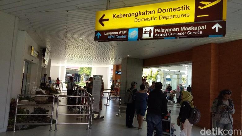 Foto: Suasana di Bandara Ngurah Rai (Nandhang/detikcom)